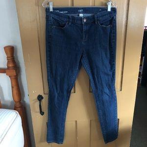 Women's modern skinny jeans.